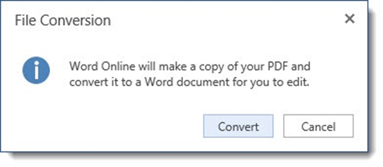 Convert files with Word Online
