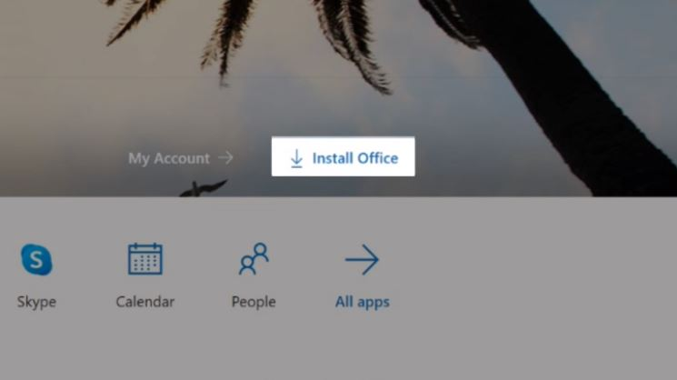Click Install Office Button