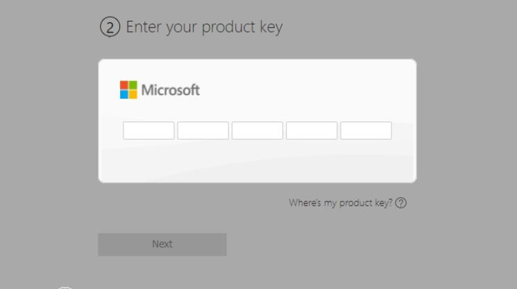 Now Enter your Product Key